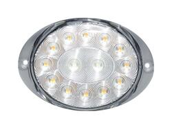 LED front blink-positionslygte PRO-OVAL 12/24V. Positions- & blinklys. vare nr. 40058911.