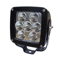 LED arbejdslygte spredelys (Flood) 7 x 5W Cree LEDs = 35W. IP68. 3486 Lm. vare nr. 5505-LAMP.