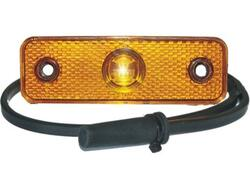 LED sidemarkering PRO-REP 12V gul, fladkabel
