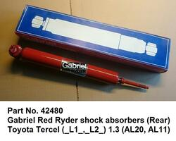 42480 Gabriel Red Ryder shock absorbers Toyota Tercel AL20, AL11 (Rear) #shockabsorbers #gabrielredryder #toyotatercel #tercelal20 #tercelal11 #gabrielshockabsorbers #gabriel42480