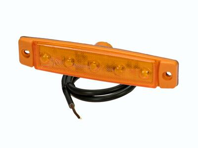 "LED sidemarkering PRO-FLAT ""Farvet version"" 12/24V"
