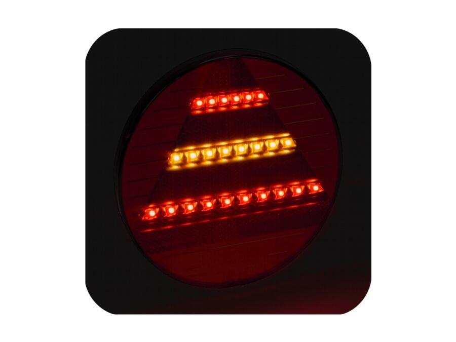 Cool LED baglygte PRO-DISC 12V + 5-pol stik JA69